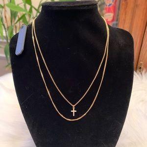 Argento Vivo gold cross necklace